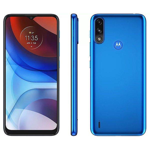 Smartphone Motorola Moto E7 Power 32GB 4G Wi-Fi Tela 6.5'' Dual Chip 2GB RAM Câmera Dupla + Selfie 5MP - Azul Metálico