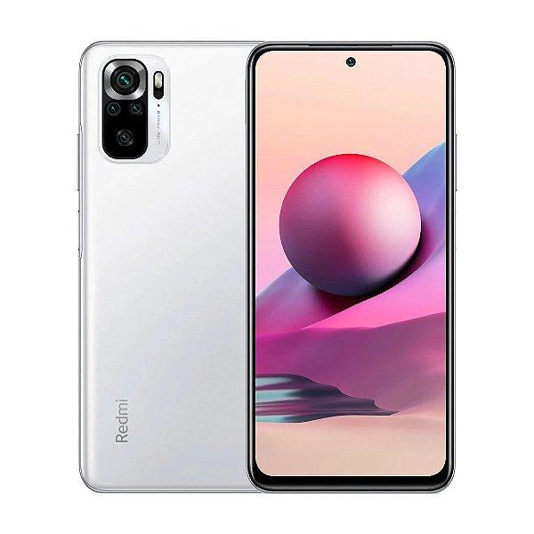 Smartphone Redmi Note 10 S 128GB + 6GB RAM Branco (Pebble White) Câmera de 64 MP + 8MP + 2MP + 2MP - Xiaomi