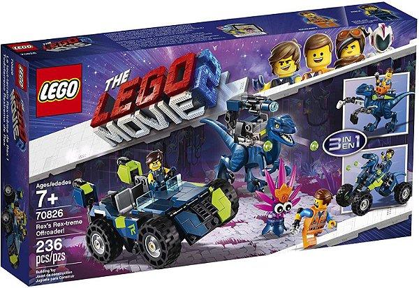LEGO Movie 2 - O Veículo Off-Road Rextreme do Rex 3 em 1 #70826