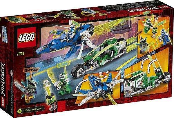 LEGO Ninjago - Os Veículos de Corrida do Jay e do Lloyd #71709