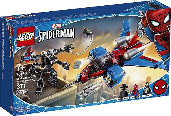Lego Marvel Super Heroes - Spiderjet vs. Robô Venom  #76150