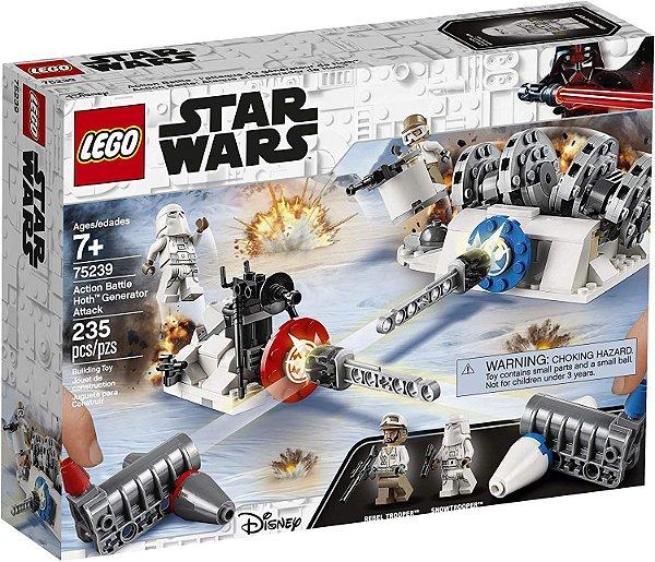 Lego Star Wars -Ataque Gerador Action Battle Hoth # 75239