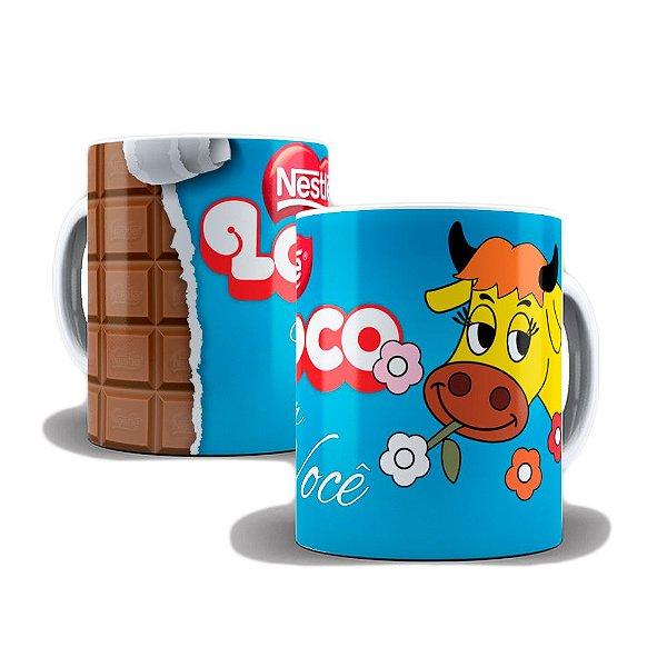 Caneca de Porcelana 325ml Personalizada Lollo Nestlé Louco Por Você