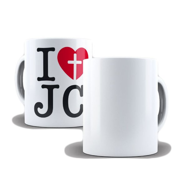 Caneca de Porcelana 325ml Personalizada I Love Jc