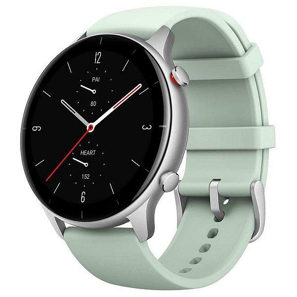 """Smartwatch Amazfit Fashion GTR 2e 1.39"""" Caixa 46.5mm De Liga De Alumínio Pulseira Matcha Green De Silicone A2023 - Xiaomi"""