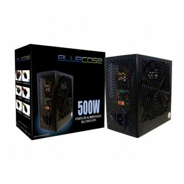 Fonte Blu500ecase Blu 500-E Atx 500w - Bluecase