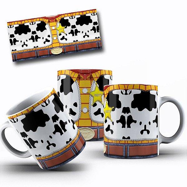 Caneca de Porcelana 325ml Personalizada Toy Story Xerife Woody