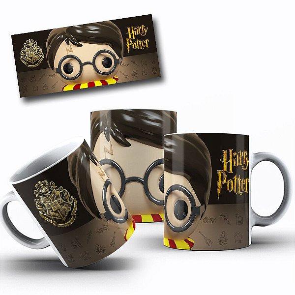 Caneca de Porcelana 325ml Personalizada Harry Potter Funko