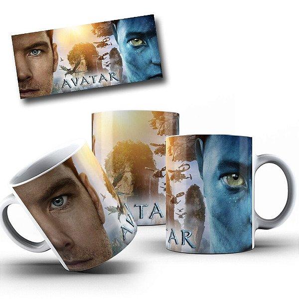Caneca de Porcelana 325ml Personalizada Jake Sully Avatar