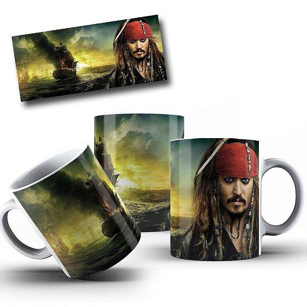 Caneca de Porcelana 325ml Personalizada Piratas Do Caribe Jack Sparrow