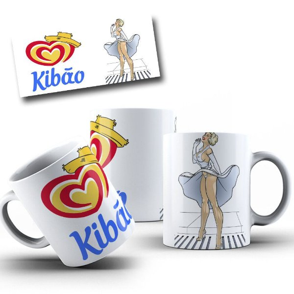 Caneca de Porcelana 325ml Personalizada Kibão