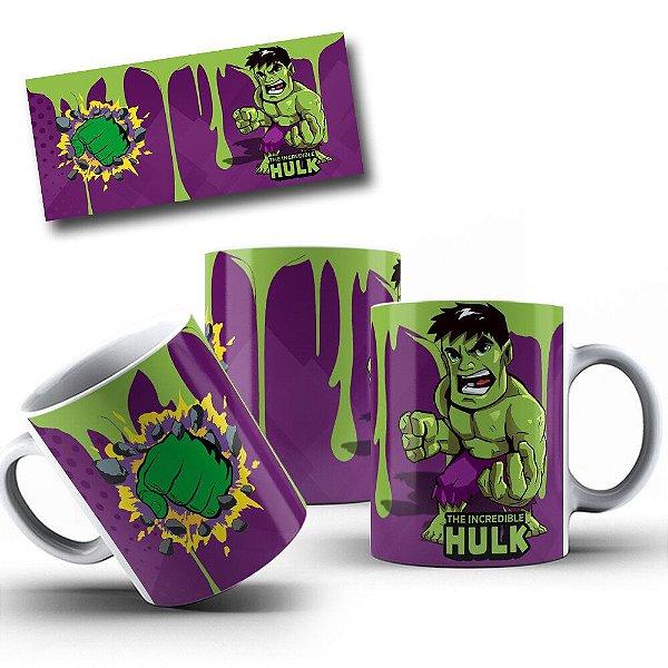 Caneca de Porcelana 325ml Personalizada Hulk