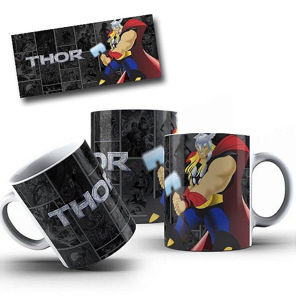 Caneca de Porcelana 325ml Personalizada Thor