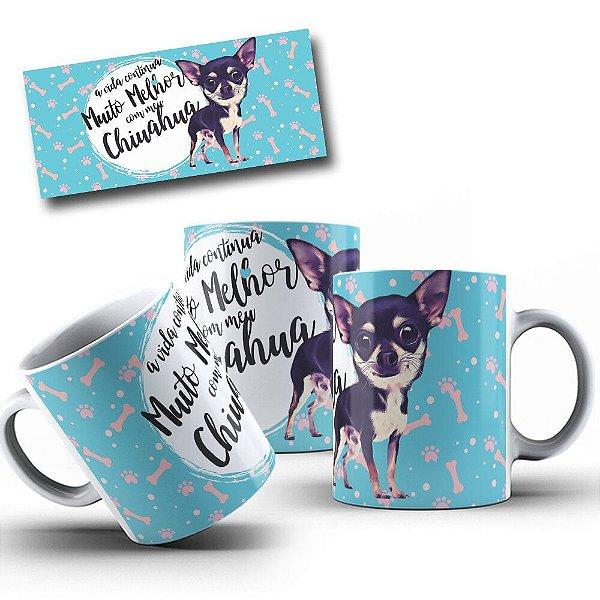Caneca de Porcelana 325ml Personalizada Chihuahua