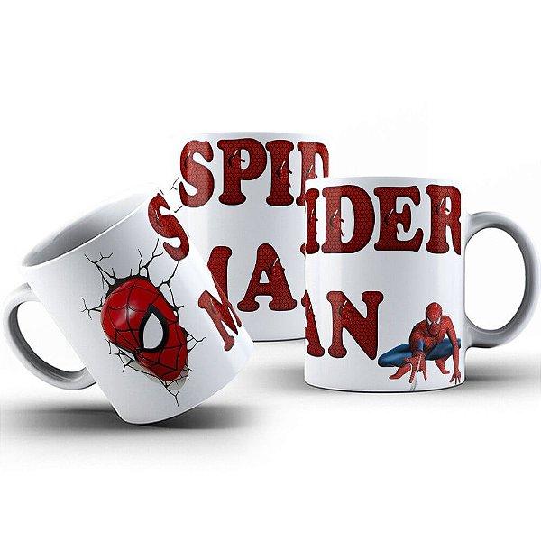 Caneca de Porcelana 325ml Personalizada Spider Man
