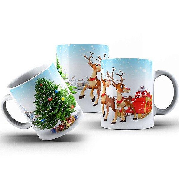 Caneca de Porcelana 325ml Personalizada Ja é Natal
