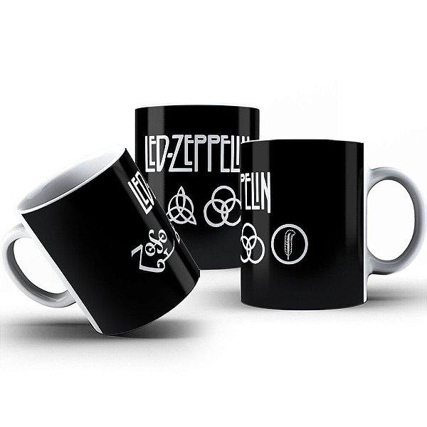 Caneca de Porcelana 325ml Personalizada Led Zeppelin