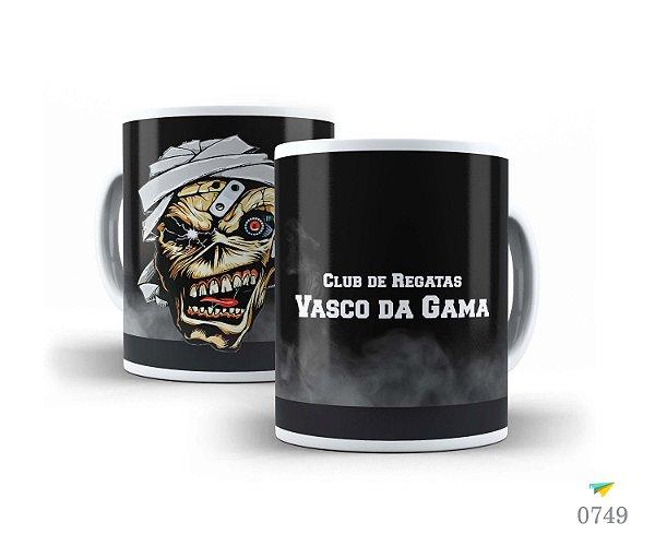 Caneca de Porcelana 325ml Personalizada Club de Regatas Vasco Da Gama