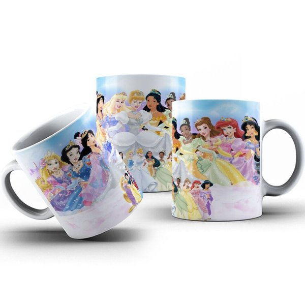 Caneca de Porcelana 325ml Personalizada Princesas Disney