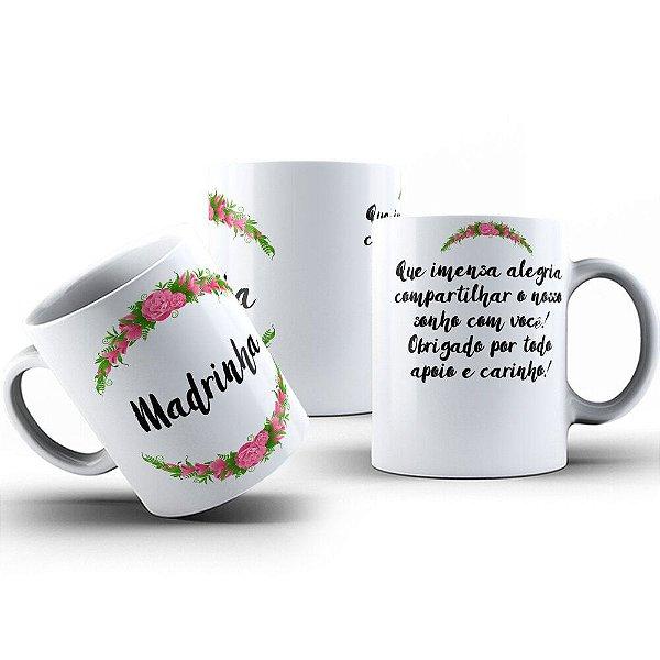 Caneca de Porcelana 325ml Personalizada Madrinha