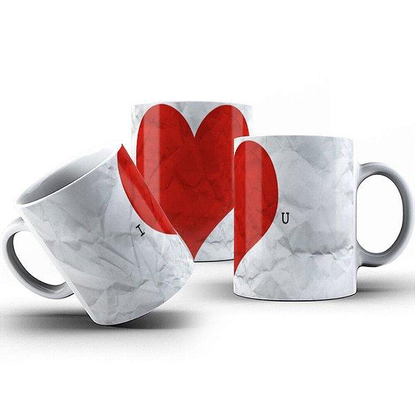 Caneca de Porcelana 325ml Personalizada I Love You