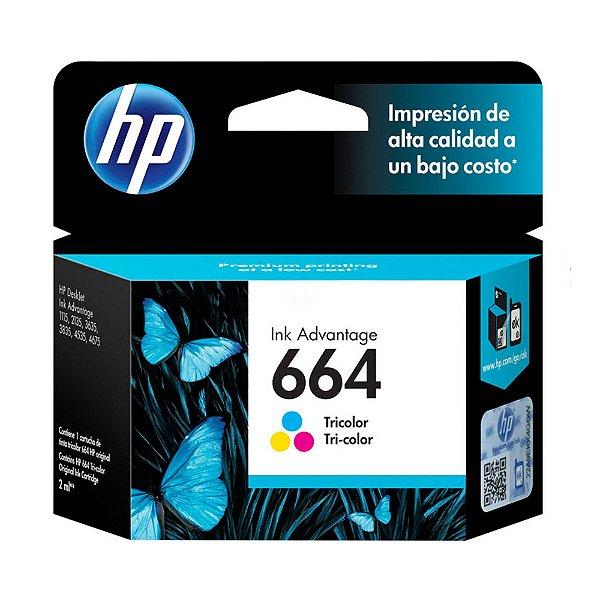 Cartucho de Tinta HP 664 (F6V28) Color 2ml