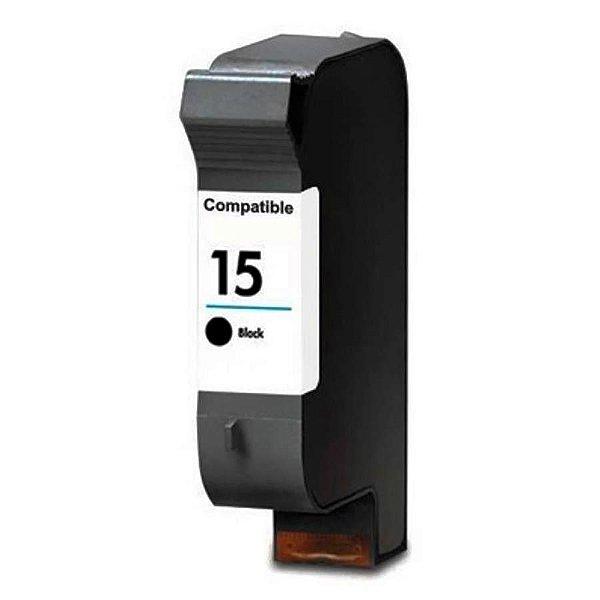 Cartucho de Tinta Compatível HP 15 (6615) Preto 40ml