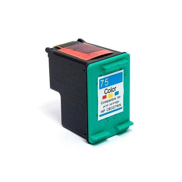 Cartucho de Tinta Compatível HP 75xl (CB338) Colorido 14ml