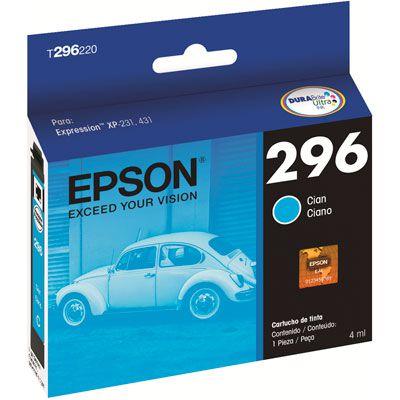 Cartucho de Tinta Epson 296 (T2962) Ciano 4ml