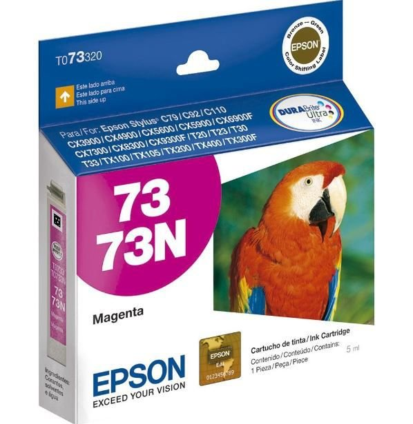 Cartucho de Tinta Epson 73 (To733) Magenta 5ml