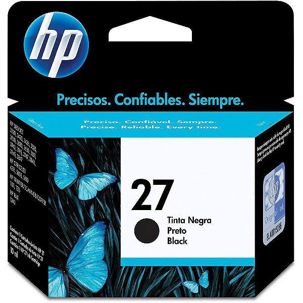 Cartucho de Tinta HP 27 (C8727) Preto 11ml