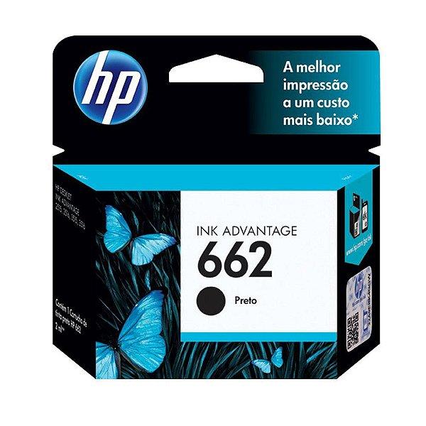 Cartucho de Tinta HP 662 (Cz103) Preto 2ml