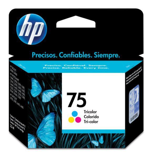 Cartucho de Tinta HP 75 (Cb337) Colorido 6ml