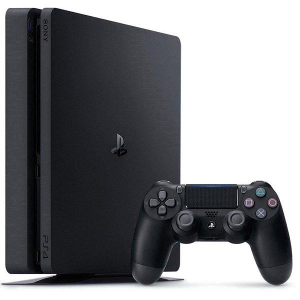 Console Sony PlayStation 4 Slim 1TB + 1 Controle Dualshock Preto