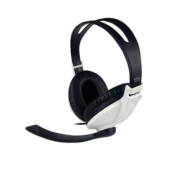 Fone de Ouvido c/ Microfone Kp418 Branco - Knup