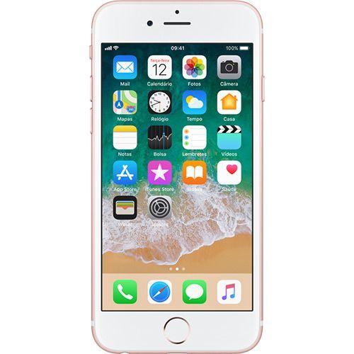 "iPhone 6s Apple 128GB Rose 4G Tela 4.7"" Retina Câmera 12MP + Selfie 5MP iOS 11 Proc. A9"