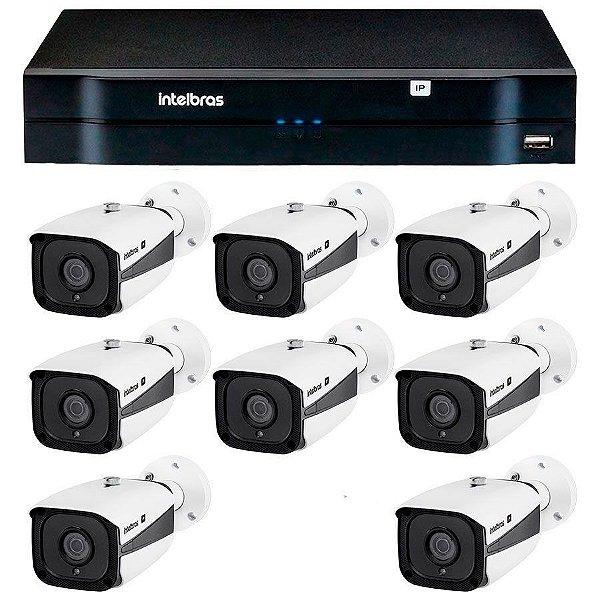 Kit 08 Câmeras IP Full HD Intelbras VIP 1220 B G3 + NVD 1208