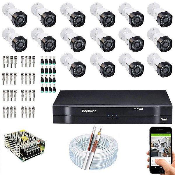 Kit Cftv Dvr Mhdx + 16 Câmeras Vhd 1120 B G5 - Intelbras