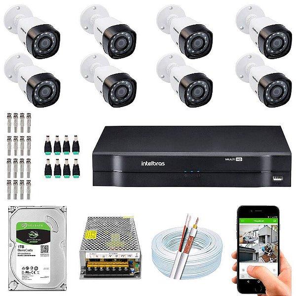 Kit Cftv Dvr + 8 Câmeras Vhd 1120 B G5 ( Com HD ) Intelbras