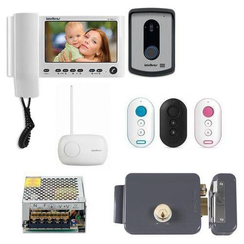 Kit de Acesso Video Porteiro Iv 7010 Hs Branco + Acessórios