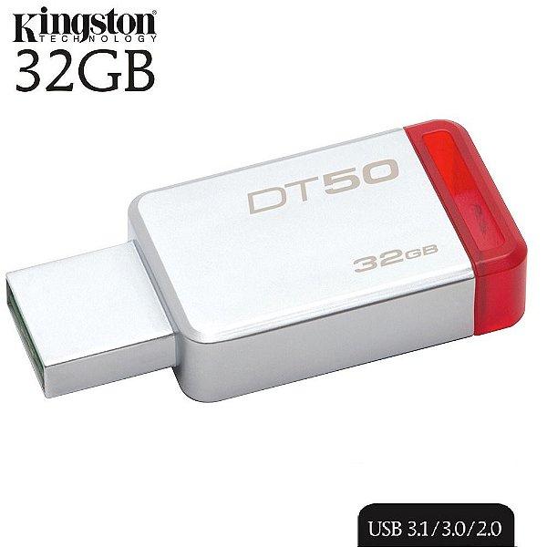 Pen Drive 32GB 3.1/3.0/2.0 USB DataTraveler50 Prata - Kingston