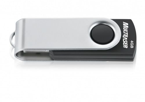 Pen Drive 4GB Twist 2 Preto USB - Multilaser