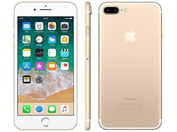 "iPhone 7 Plus Apple 32GB Preto 4G Tela 5.5"" Câmera Dupla 12MP + Selfie 7MP iOS 11 Proc. Chip A10"