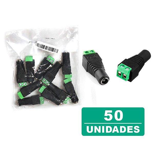 Kit 50 Conectores Plug P4 Fêmea