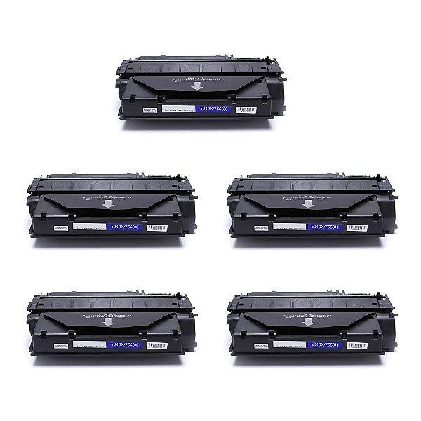 Kit 05 Cartuchos de Toner Compatível HP Q5949X Q7553X