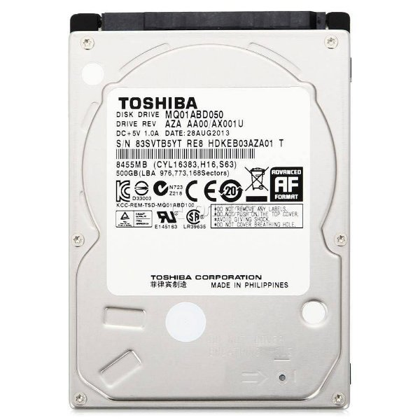 Hd Notebook 500gb 5400 Rpm 8mb Sata - Toshiba