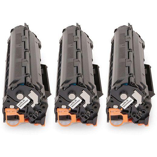 Kit 03 Cartuchos de Toner Compatível HP Ce278A