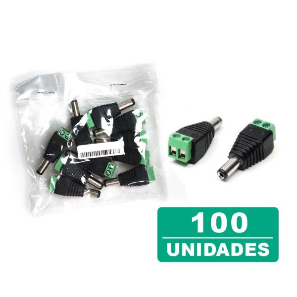Kit 100 Conectores Plug P4 Macho