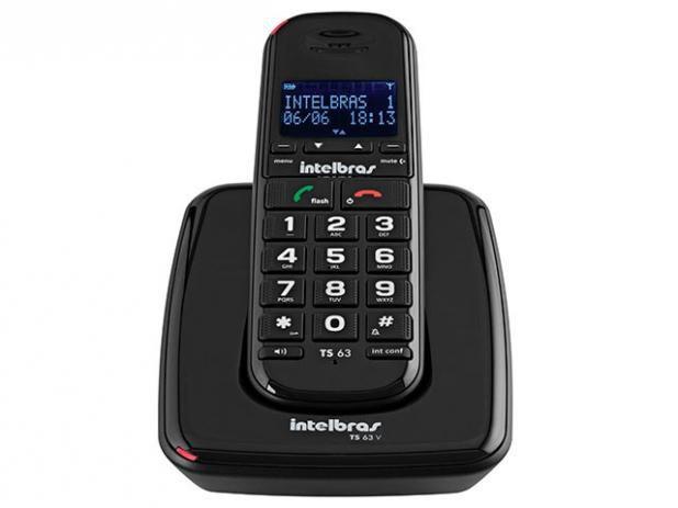 Telefone sem Fio Ts 63 V Preto -  Intelbras