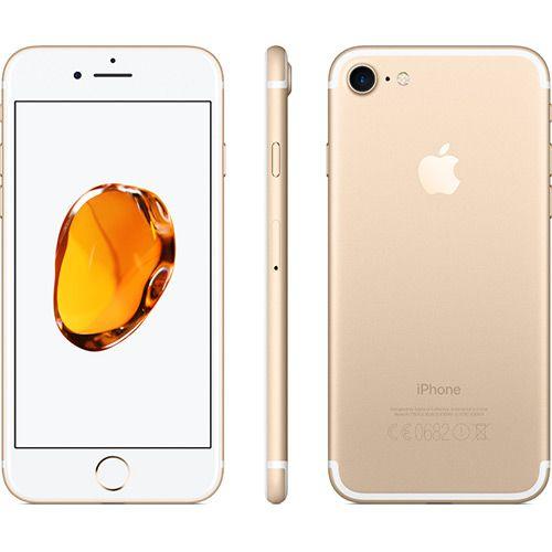 """iPhone 7 Apple 128GB Dourado 4G Tela 4.7"""" Retina Câmera 12MP + Selfie 7MP iOS 11 Proc. Chip A10"""